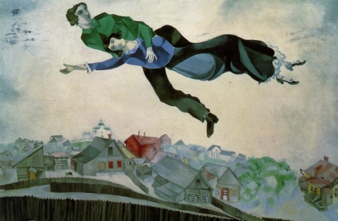 over-the-town-by-marc-chagall