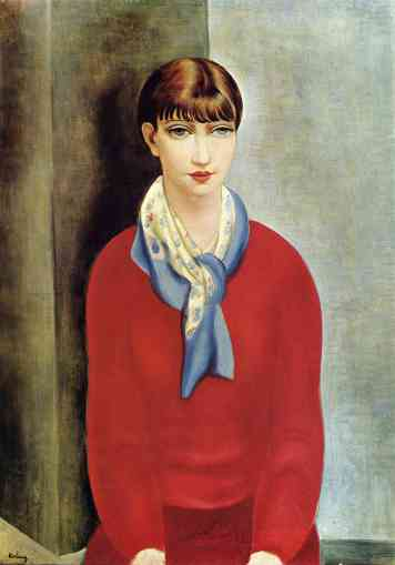 kiki-de-montparnasse-in-a-red-jumper-and-a-blue-scarf-kisling1925